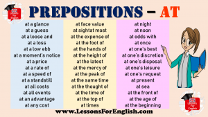 Prepositions - AT