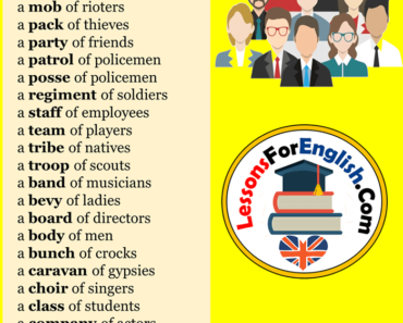 Collective Nouns For People, Collective Nouns List