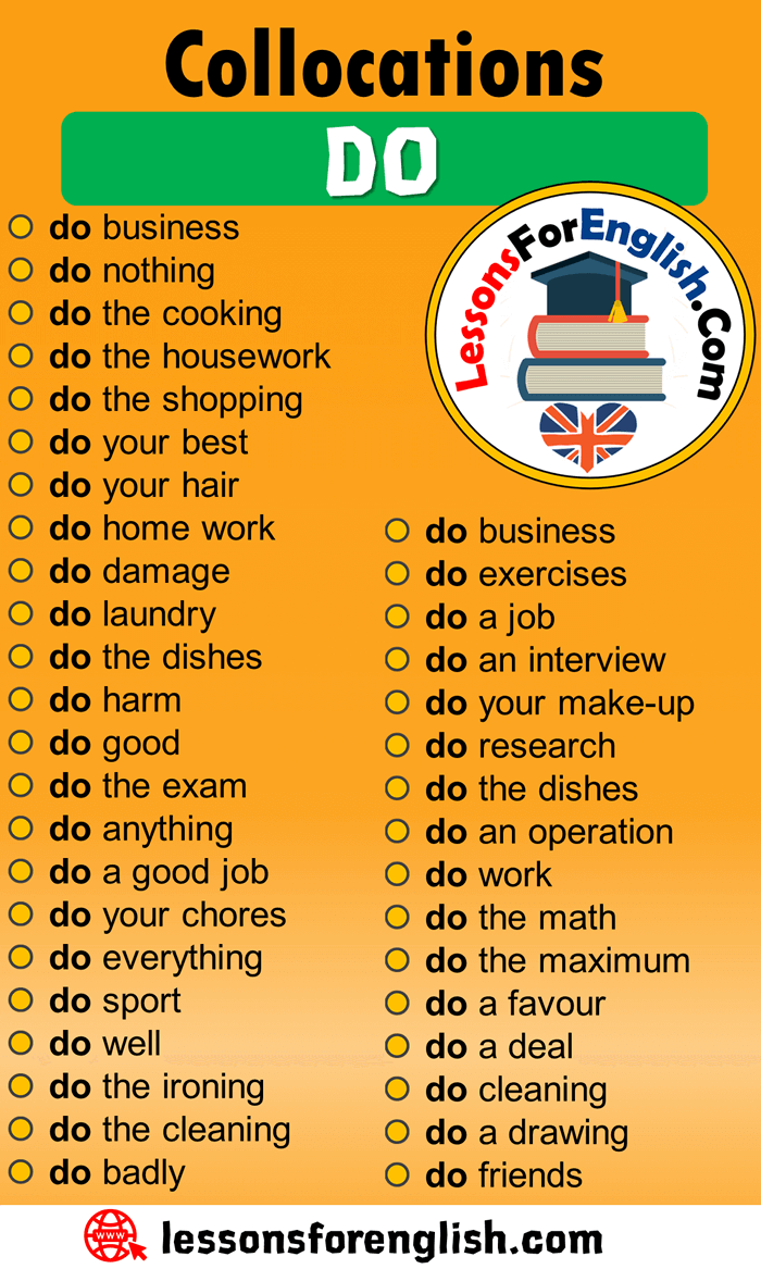 Collocations with DO in English