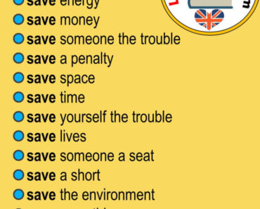 English Phrases Samples, Collocations with SAVE in English