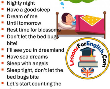 English Phrases - Good Night