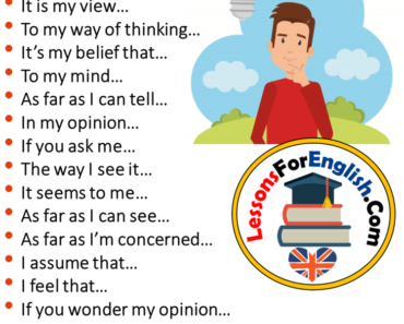 English Phrases - I Think