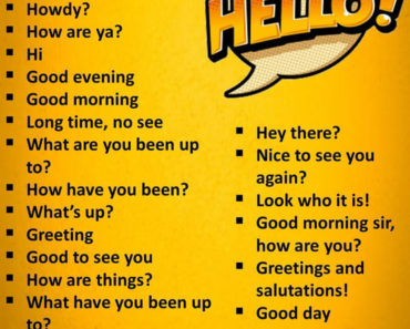 English Phrases Say Hello
