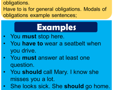 English Modal Verbs of Obligation