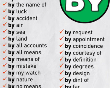 English Prepositional Phrases List BY