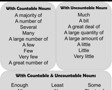 English Using Quantifiers, Definition and Examples