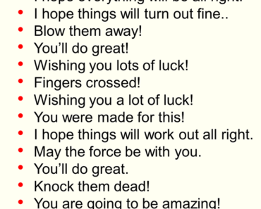 Ways To Say Good Luck, English Phrases Examples