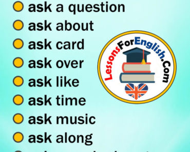 English Collocations with ASK in English