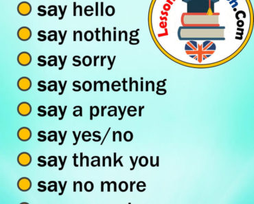 Collocations with SAY in English