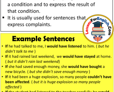 English If Clauses Type 3, Definiton and Example Sentences